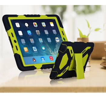 iPad Pro 9.7 Heavy Duty Case with built-in plastic screen protector