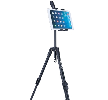 iPad Pro Tripod Mount & Top Quality Tripod Combo (reversible centre column)