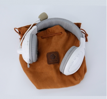 Deluxe Headphone Pouch with Drawstring