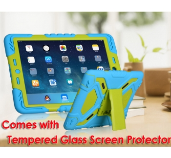 iPad 2017 Tough Case and Glass Screen Protector Combo
