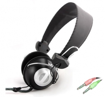 Headphone with In-Line Microphone & Vol Control